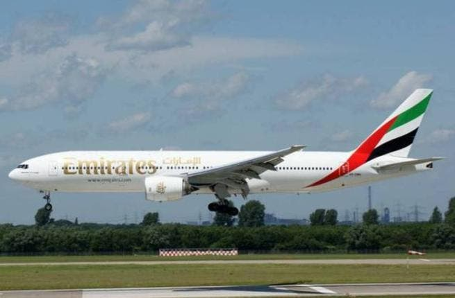 Emirates B77 inflight