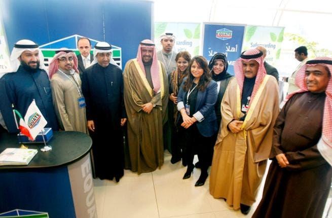 Sheikh Ahmad Al-Fahad at EQUATE booth