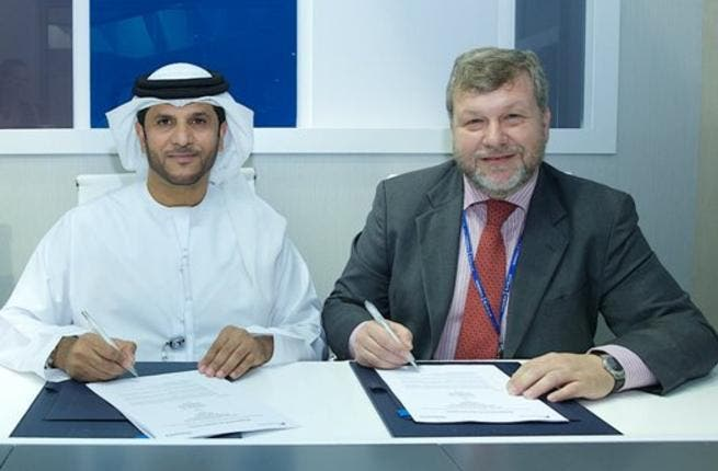 Dr. Khaled Al Mazroui, Chief Executive Officer of Abu Dhabi Ship Building and Mr. Gonzalo Mateo-Guerrero, Commercial Vice-President of Navantia