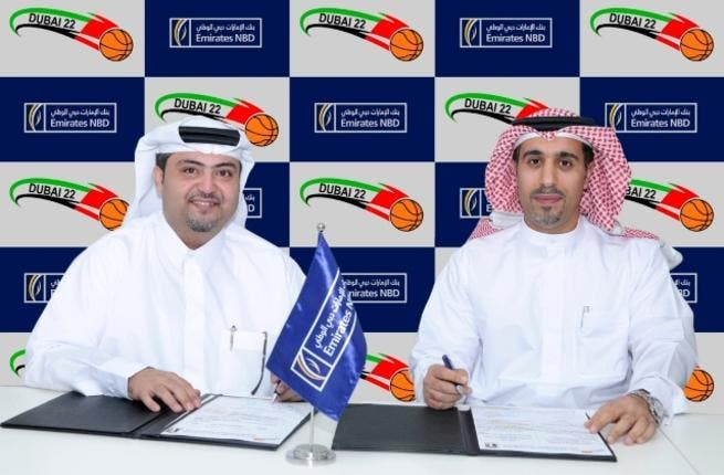 Abdulla Faisal Al Dossari, UAE Basketball Association with Saif Al Mansoori, Emirates NBD