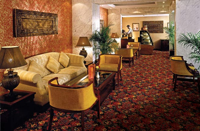 Arabian Courtyard Hotel & Spa has recently renovated its lobby area to bring a more traditional Arabic theme