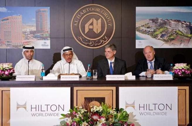 During the press conference with Khalaf Al Habtoor, chairman and founder of Al Habtoor Group and Christopher J. Nassetta, president and chief executive officer, Hilton Worldwide