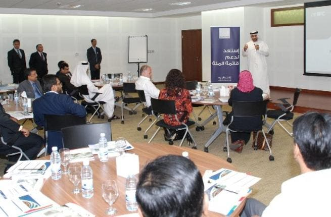 Al Janahi, Chief Executive Officer of Dubai SME during the workshop