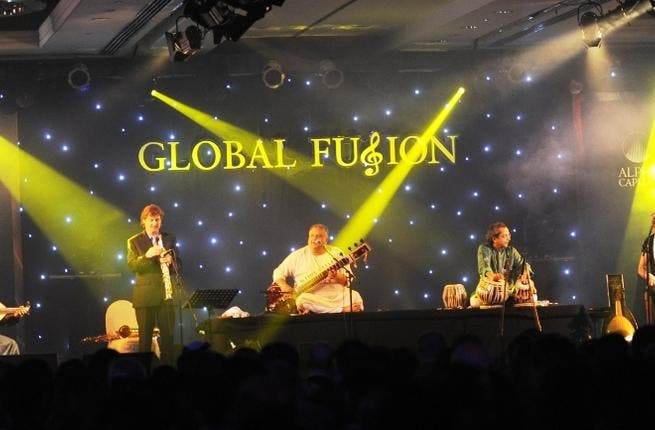 Artistes performing at Bank Sarasin Alpen and Alpen Capitals Global Fusion event