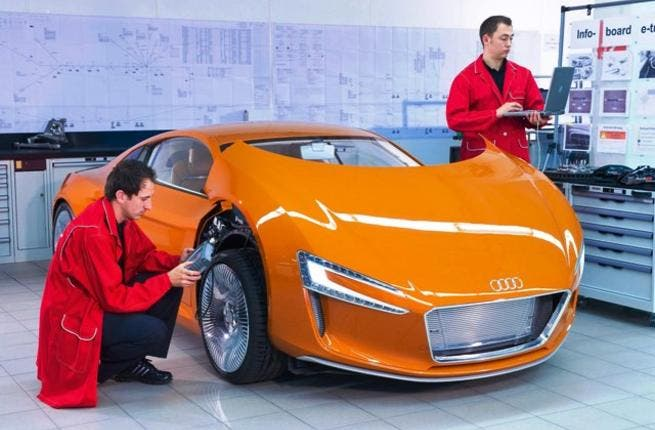 Audi R8 e-tron, the first electric sports car from Audi