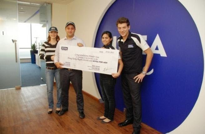 Zuza Issa, Haider Issa, Maya Itani, Brand Manager NIVEA FOR MEN and Nadim Gholam, Assistant Brand Manager NIVEA FOR MEN