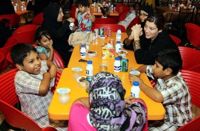 During the Iftar