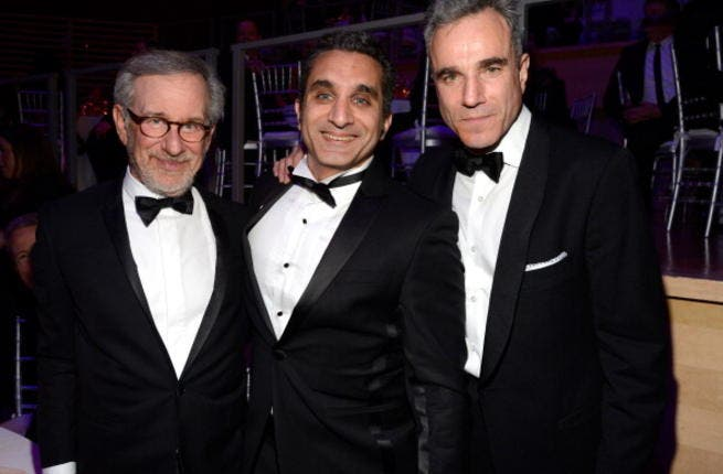 Bassem Yousef (middle) at the Time Magazine's gala