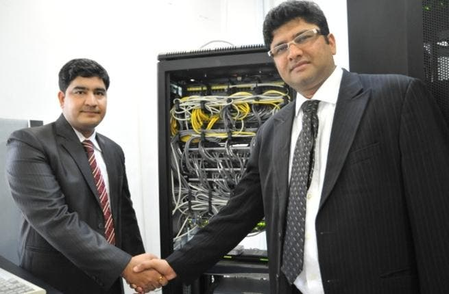 Bharat Singh Senwal, Assistant General Manager, HANCO and Shahnawaz Sheikh, SonicWALL MEA  Regional Sales Manager