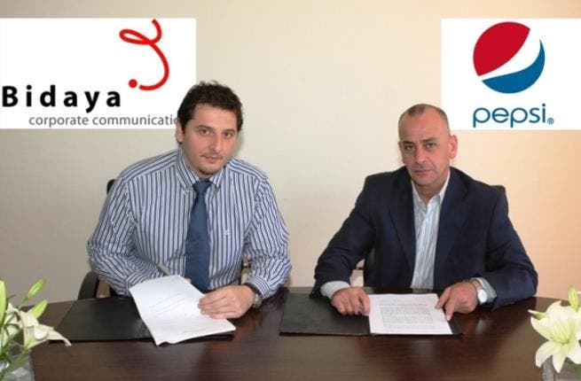 Bidaya's Director of Public Relations, Raed Nimri and PepsiCo-Jordan's Public Relations Manager, Mohammad Arabiyat