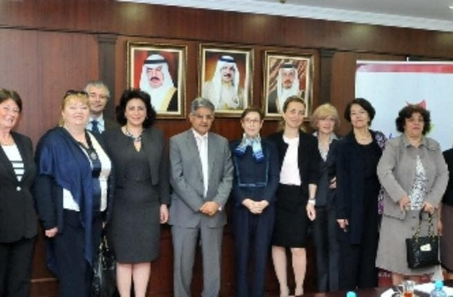 CE of Tamkeen Mahmood Al Kooheji and other Tamkeen officials with Ladies First Delegation