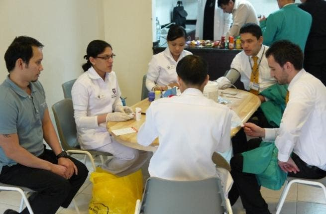 CSH conducts medical check ups for DDF employees