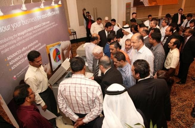 More than 150 attendees witnessed Canon's latest colour printer aimed at improving efficiency, security and lower environmental impact