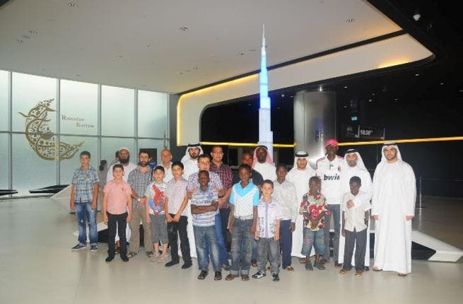 Children from Dar Al Ber at At the Top