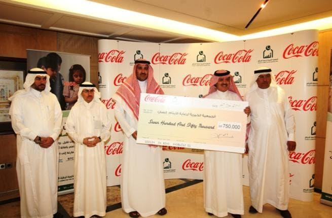 Abdullah Al Aarak, Assistant General Manager at Coca-Cola Bottling Company of Saudi Arabia and HRH Prince Faisal bin Salman bin Abdul Aziz, Chairman of Ensan
