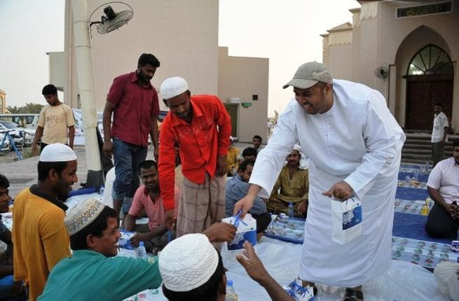 Distributing Iftar meal in Mosques