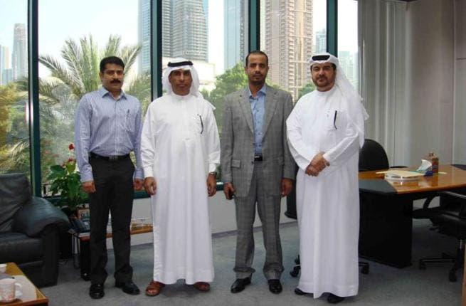 Abdulrahman Qasim Al Ali with the delegation in presence of Ali Ibrahim