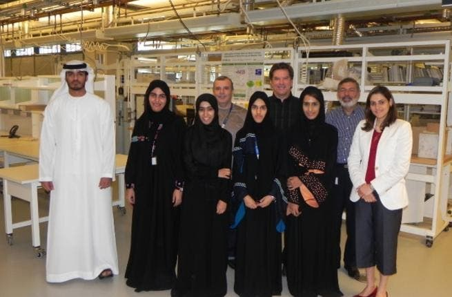 The students with the professors of Masdar Institute