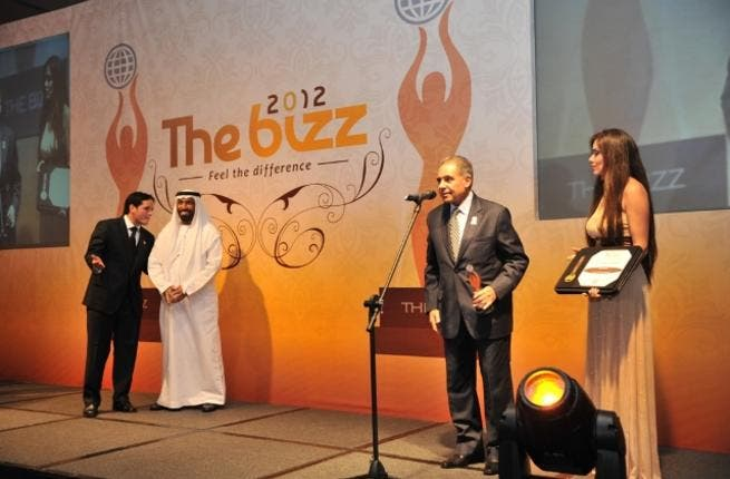Dr. Nabil Ibrahim receives the award from H.E Juma Rashid Saif Al Dhaheri UAE Ambassador to Qatar