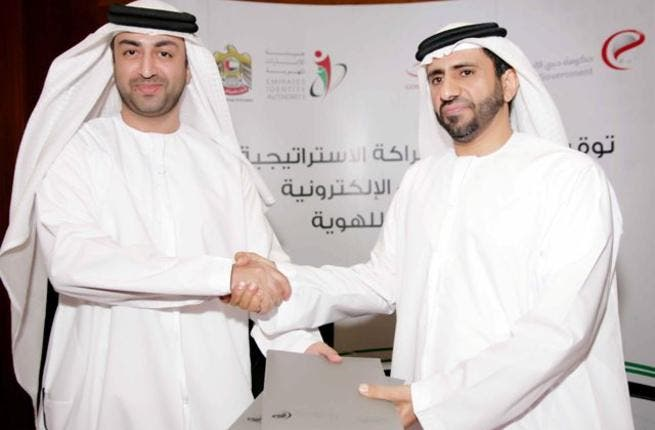 H.E. Ahmed Bin Humaidan, Director General of Dubai eGovernment, and H.E. Dr. Eng. Ali Mohamed Al Khouri, Emirates ID Director General during the signing