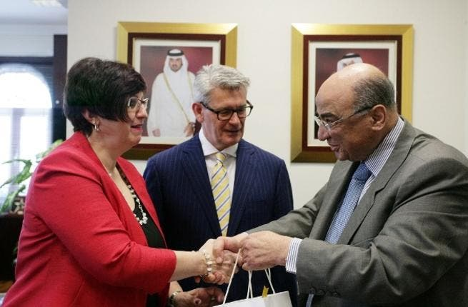 Fathy Saoud, Mr Robert Harding and Mrs Mary Jo Haddad