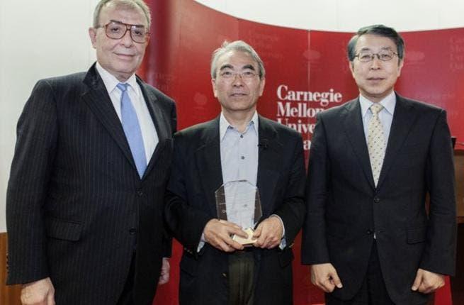 Dr. Kanade with Dean Baybars and Ambassador Kenjiro Monji