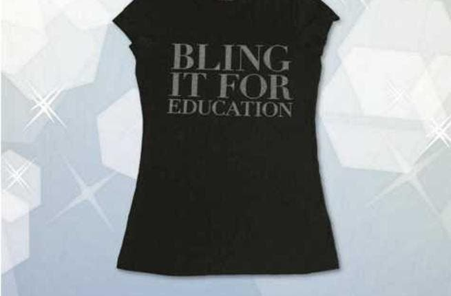 Pick up your 'Blink it for Education' t-shirt