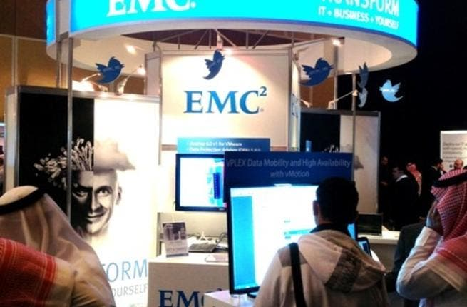 EMC stand at Cisco connect 2013