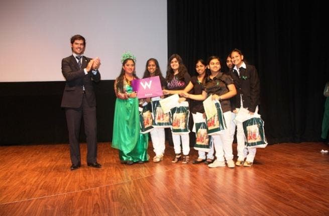 Edgar Vaudeville, PR and Events Manager, W Doha with the winners