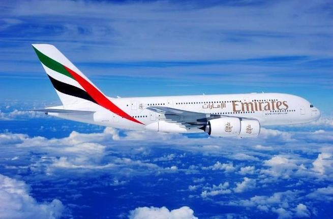 An Emirates' A380, supporting one of the airline's triple daily flights to Jeddah