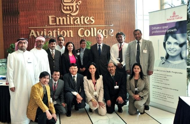 The organising team for Open Day at the Emirates Aviation College