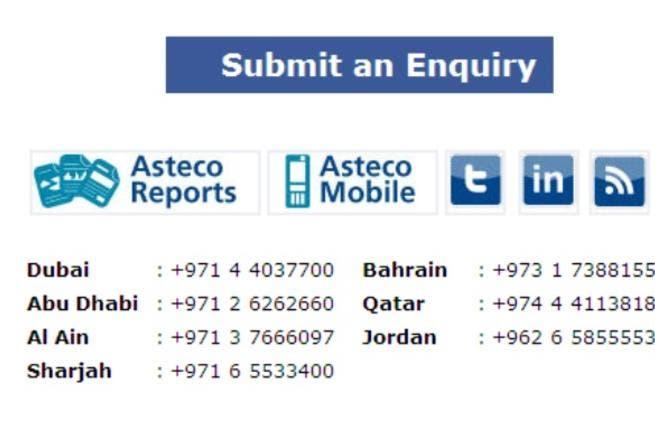 Asteco Facebook application