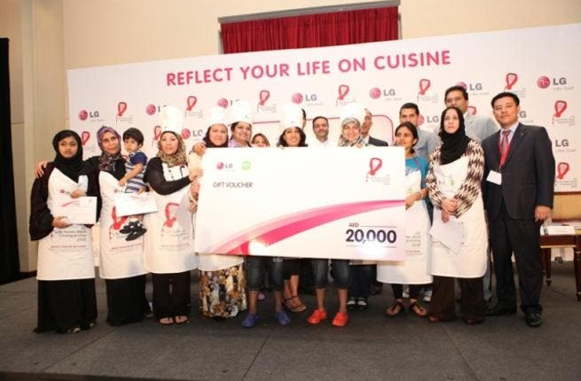 Finalists being presented with gift voucher