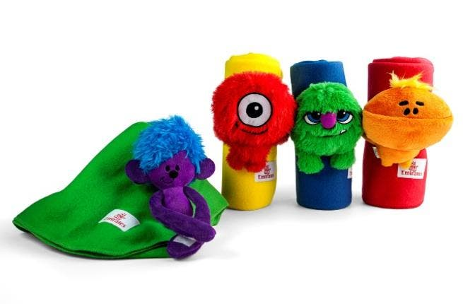 Emirates' new 'Fly With Me' monsters blanket buddies