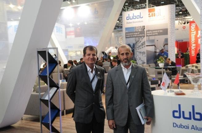 Walid Al Attar, Executive Vice President Marking & Sales, DUBAL, and Saeed Fadhel Al Mazrooei, CEO EMAL, at Aluminium 2012, Dusseldorf