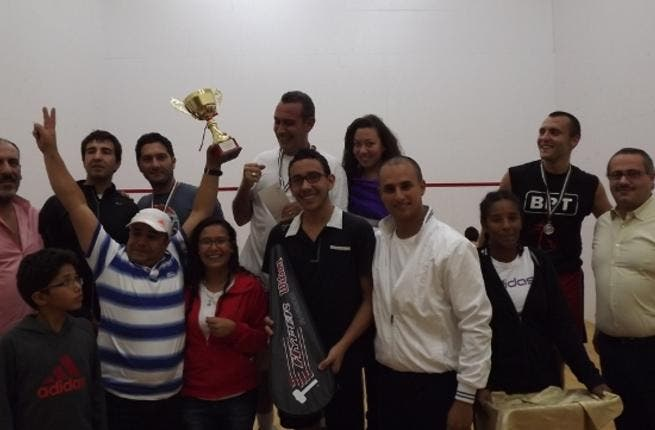 From the squash tournament finale