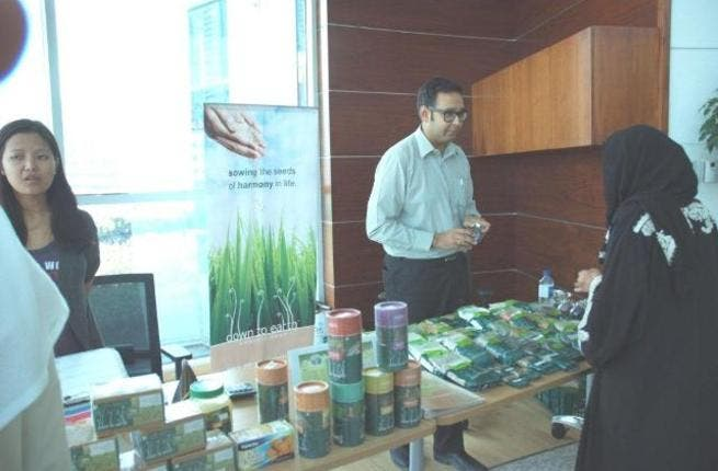 During the Recycling Week at Dubai Properties Group headquarter