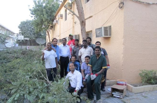 During the 'Together We Care' activity at Al Bustan Centre & Residence