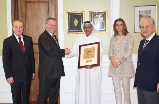 AUS officials with Khalaf Al Habtoor, Chairman of Al Habtoor Group of Companies