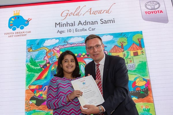 UAE Gold Award winner of Toyota Dream Car Art Contest ...