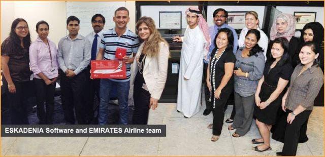 Eskadenia Software and Emirates Group team
