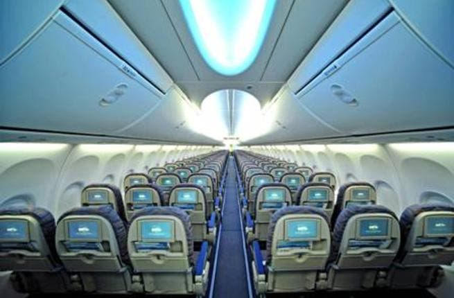 flydubai's new look 737-800 NG, including the new Boeing Sky Interior and the revolutionary new In-Flight Entertainment system from Lumexis