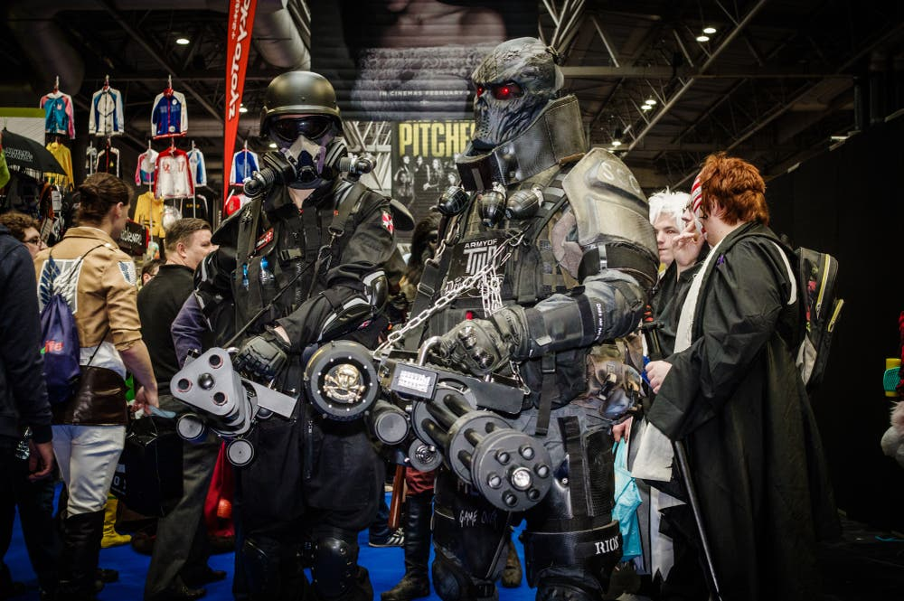 Cosplayers dressed as characters from the movie/video game 'Resident Evil' and the video game 'Army of Two' (Shutterstock/File Photo)