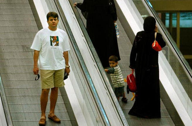 Muslim women in traditional Saudi dress at Central Market shopping mall in Dubai, United Arab Emirates. (Photo by Chris Hondros/Getty Images)