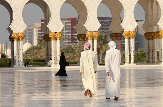 Grand Mosque Abu Dhabi (Source: Wikimedia Commons)