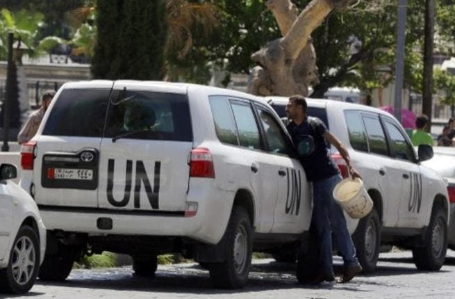 UN officials returned to Syria Wednesday to collect more evidence on the country's chemical weapons (AFP)