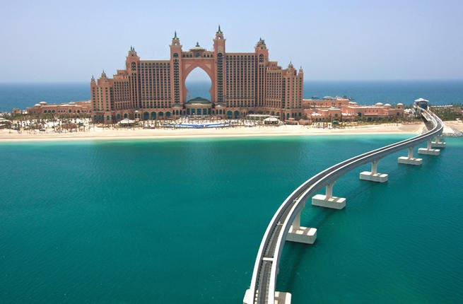 The Atlantis hotel in Dubai is the host of musicians, celebrities and high end businesses. [laingorourke.com]