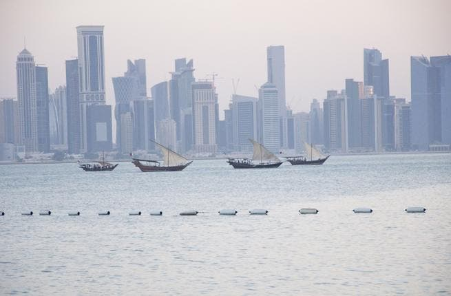 Doha skyline at sunset. Qatar's human resources market is one of the fastest growing in the Gulf (Albawaba/J. Zach Hollo)