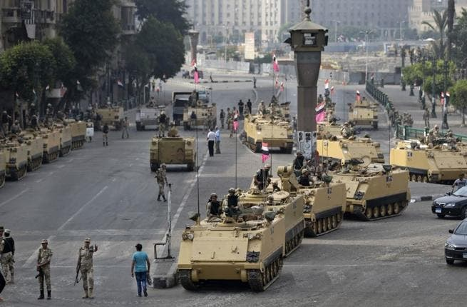 Sisi is considered responsible for directing the overthrow of former Egyptian President Morsi that has left the country in turmoil and chaos since the president's exit in July (Courtesy of Voice of America)