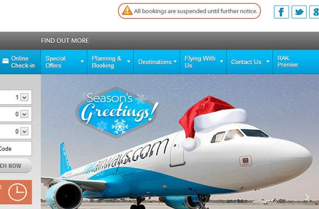 The online booking on the company's website yields 'no flights available'. (Image credit: Shutterstock)